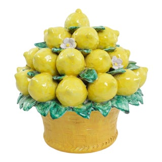 Italian Terracotta Lemon Topiary For Sale