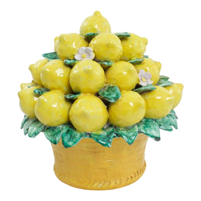 Italian Terracotta Lemon Topiary For Sale
