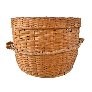19th Century American Feather Basket For Sale