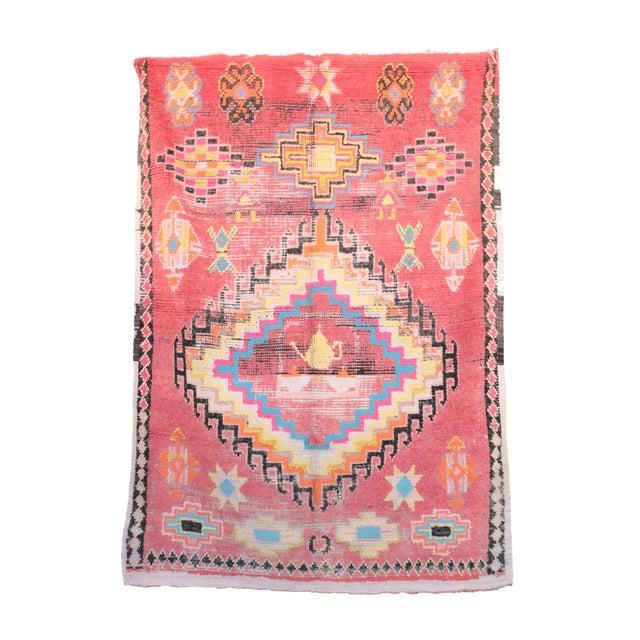 "Boujad Vintage Moroccan Rug -- 5'11"" x 8'2"" For Sale"