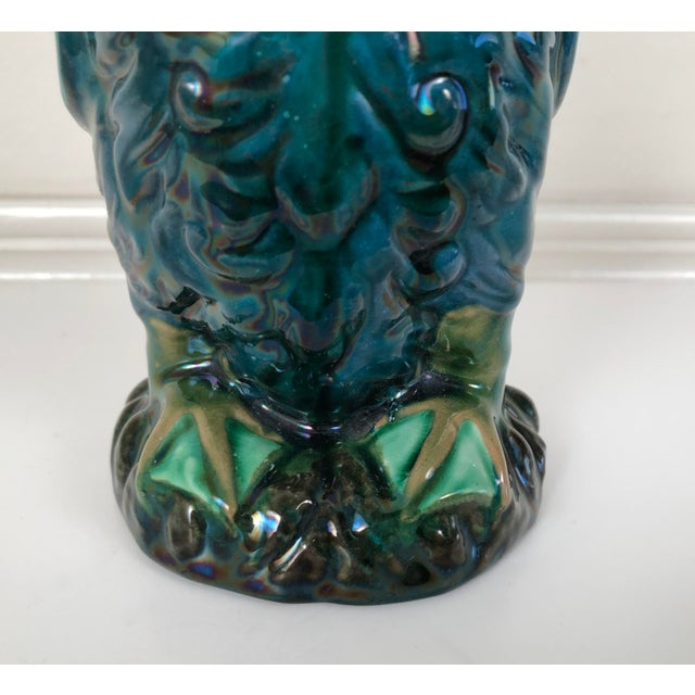 Longpark English Art Pottery Bird Pitcher For Sale - Image 4 of 13