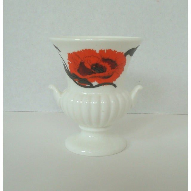 """Vintage Wedgwood bone china set in the """"Corn poppy"""" pattern designed by Susie Cooper. Originally made as a smoking set..."""