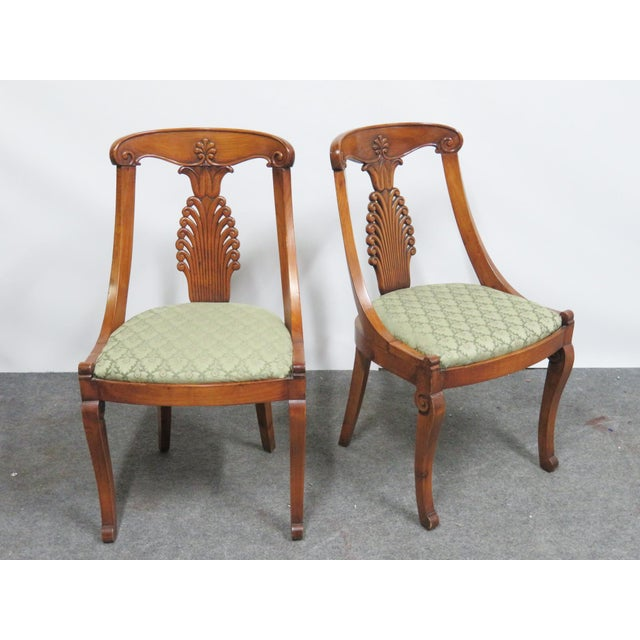 Empire 19th Century Antique Empire Klismos Carved Dining Chairs - Set of 6 For Sale - Image 3 of 8