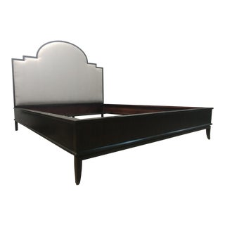 Mid-Century Modern Henredon Furniture Morgan Mocha Finish Dean Collection King Panel Bedframe For Sale