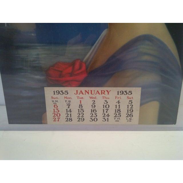 Vintage Advertising Calendar 1935 For Sale - Image 5 of 7