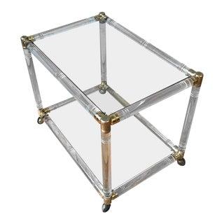 French Mid-century Modern Plexiglass Bar Cart For Sale