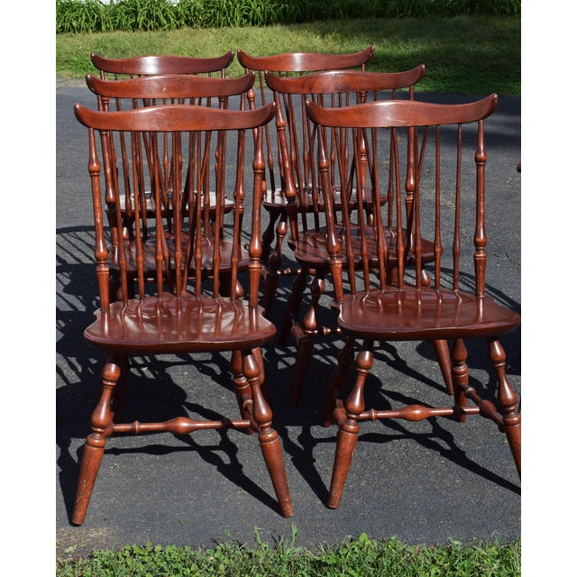Vintage Windsor Nichols & Stone (Stickley) Dining Chairs - Set of 8 ...