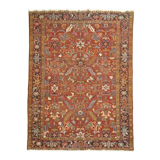 Vintage Persian Heriz, 8' X 11' For Sale