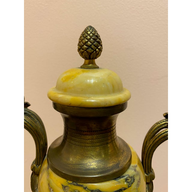 French Antique Louis XVI Style Marble Vase For Sale - Image 3 of 8