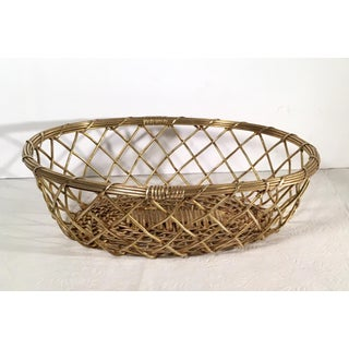 Vintage Mid Century Brass Wire Basket Preview