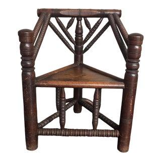 Triangular Wood Chair For Sale