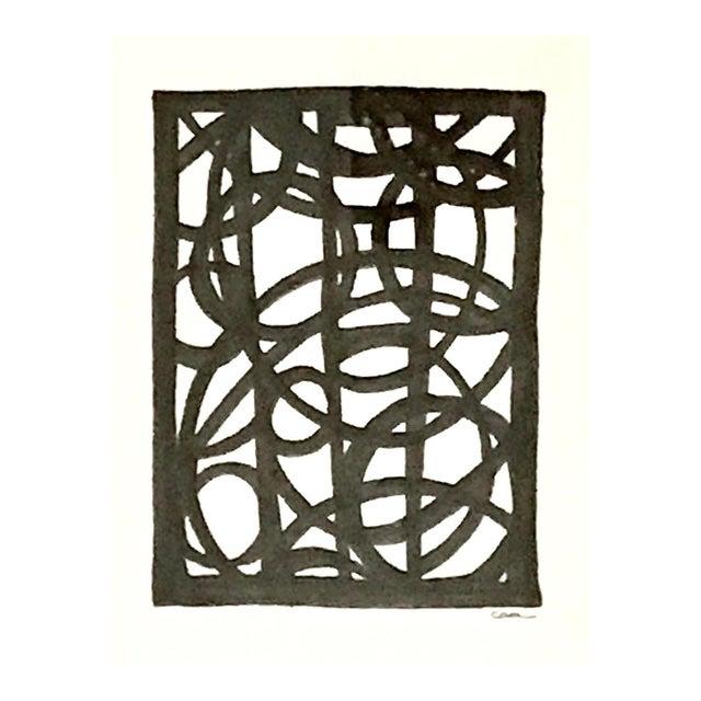 """Lineworks I"" Original Mixed Media Painting - Image 1 of 6"