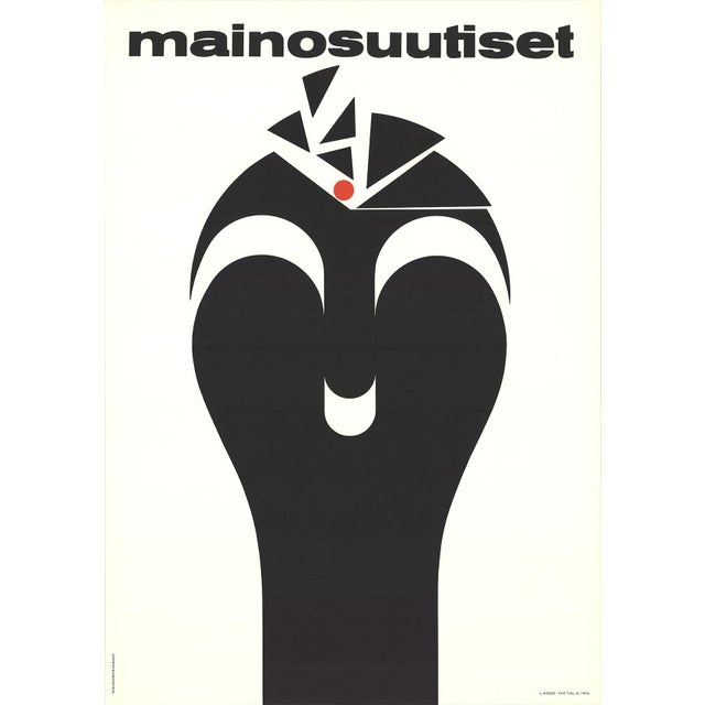 "Lasse Hietala ""Mainosuutiset (Advertisement News)"" Lithograph Poster. Artist: Lasse Hietala Title: Advertisement News..."