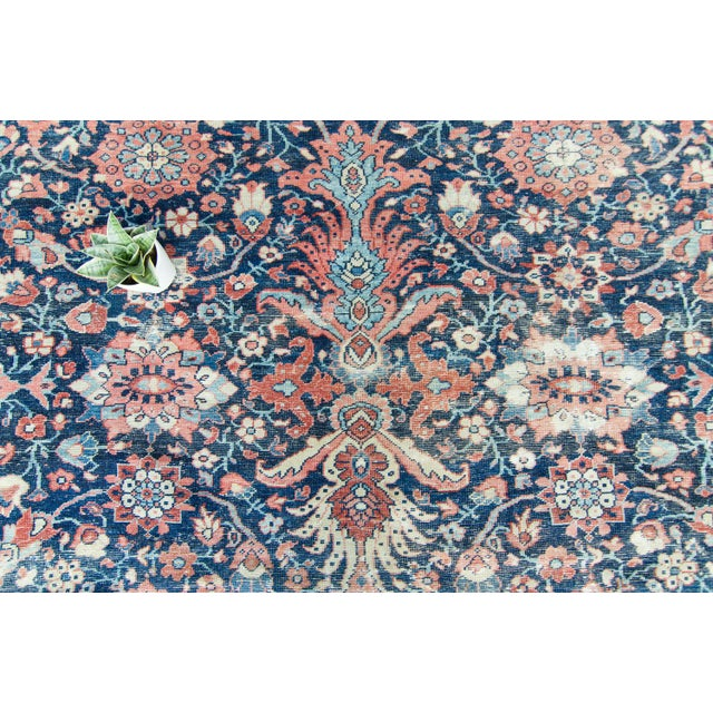 """White House of Séance - 1920s Vintage Mahal Geometric Medallion Wool Hand-Knotted Rug - 8'6"""" X 11'7"""" For Sale - Image 8 of 11"""