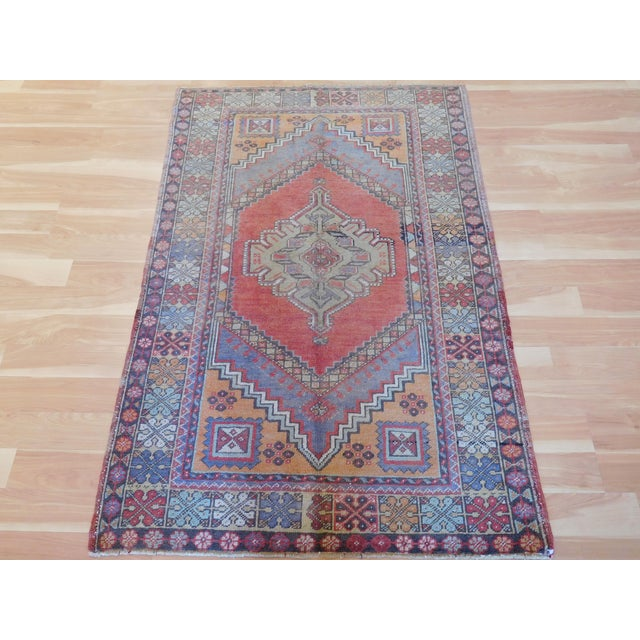 "Vintage Turkish Oushak Rug - 3'9"" X 5'6"" - Image 5 of 5"