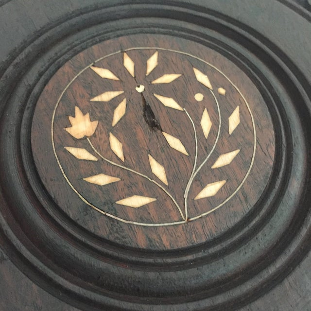 Floral Carved Chai Table - Image 5 of 9