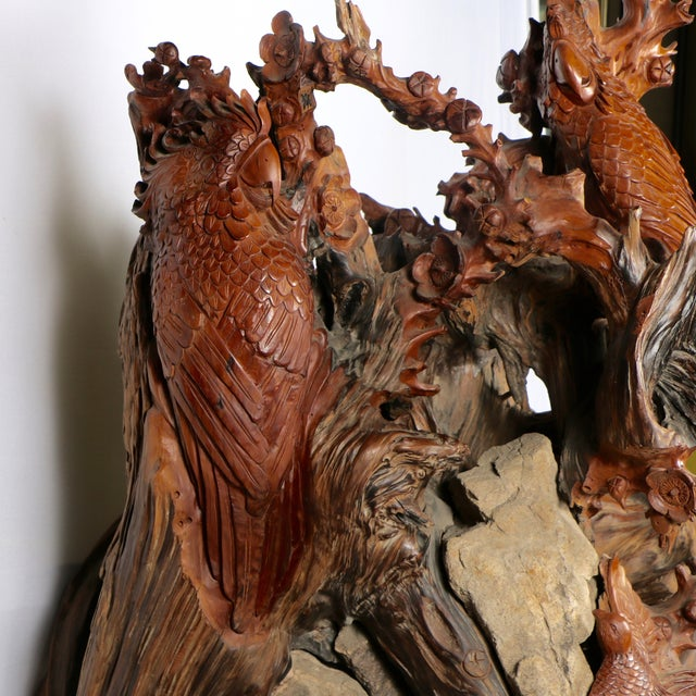Carved Root Sculpture - Image 9 of 11