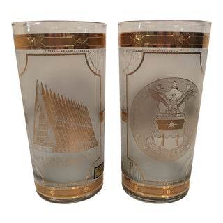 1960s Americana Air Force Academy Culver Glasses - a Pair For Sale