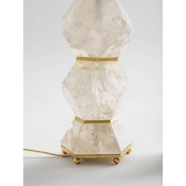 """Contemporary Classic Rock Crystal Quartz Lamps - """"Eon Collection"""" For Sale - Image 3 of 10"""