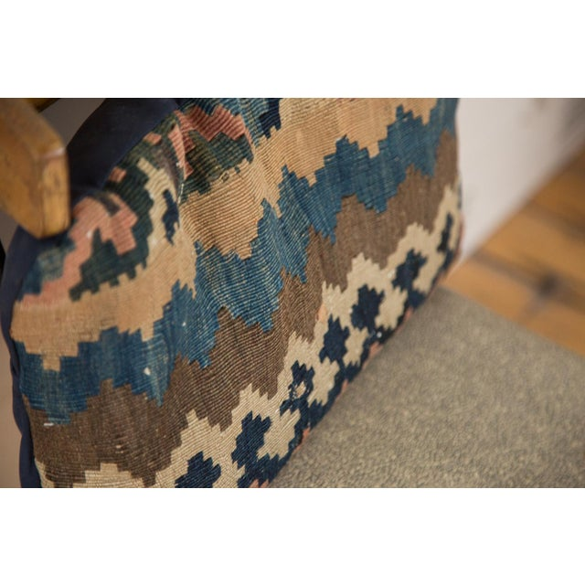 Antique Kilim Throw Pillow For Sale - Image 5 of 7