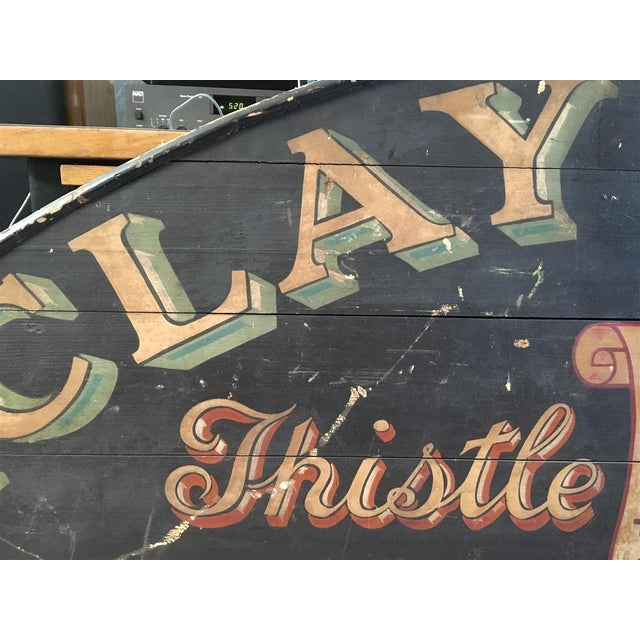 Monumental Hand Painted Antique Thistle Brewery Sign For Sale In Los Angeles - Image 6 of 10