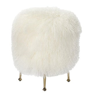 Antonia Stool - Ivory Sheepskin For Sale