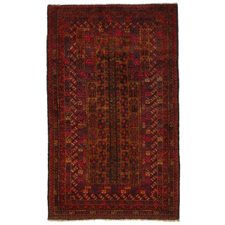 """Pasargad Ny Afghan Baluch Wool Rug - 3'1"""" X 5' For Sale"""