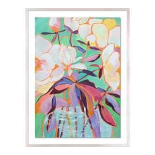 Santorini 1 by Lulu DK in White Wash Framed Paper, Small Art Print For Sale