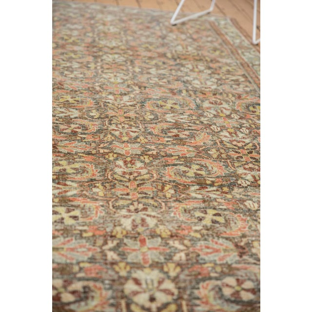 "Old New House Vintage Distressed Mahal Carpet - 5'5"" X 10' For Sale - Image 4 of 13"