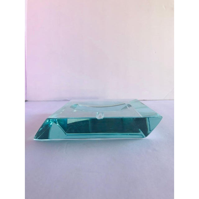 Beveled Glass Ashtray by Fontana Arte For Sale In Palm Springs - Image 6 of 12
