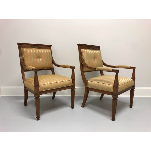 French Provincial Vintage Mid 20th Century French Provincial Louis XVI Lounge Chairs - a Pair For Sale - Image 3 of 13