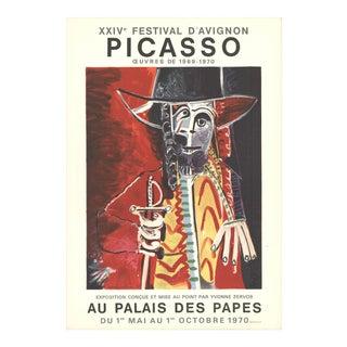 """Pablo Picasso Festival d'Avignon 30"""" X 21"""" Lithograph 1970 Cubism For Sale"""