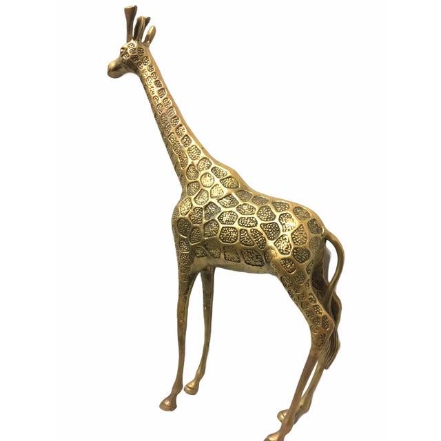 Metal Vintage Mid-Century Brass Giraffe For Sale - Image 7 of 8