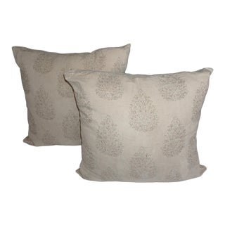 John Robshaw Kedara Linen Print Pillows - a Pair