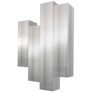 Polished Aluminum Wall Sculpture by Cy Mann For Sale