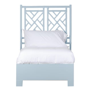 Chippendale Bed Twin - Blue For Sale