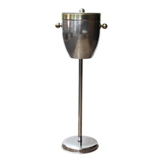Modern Two-Toned Metal Champagne Stand For Sale
