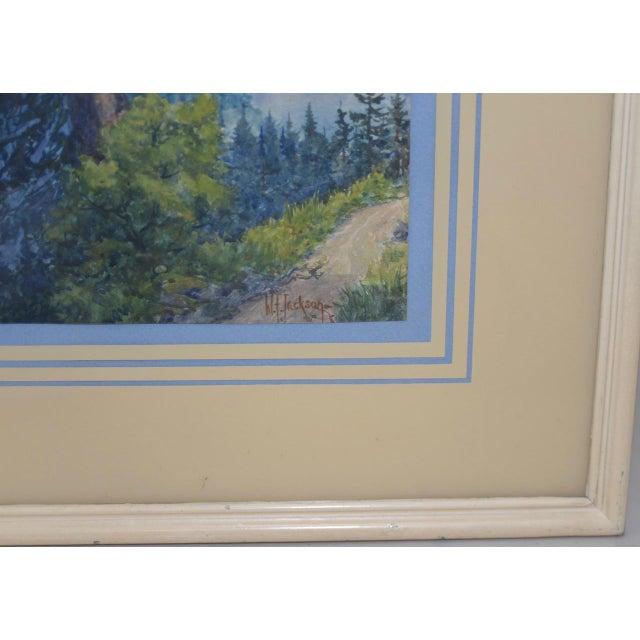 Sierra Mountain Landscape Watercolor by W.F. Jackson c.1910 For Sale - Image 4 of 7