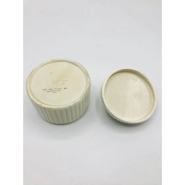 1990s Fitz and Floyd Seashell Lidded Box For Sale - Image 5 of 7