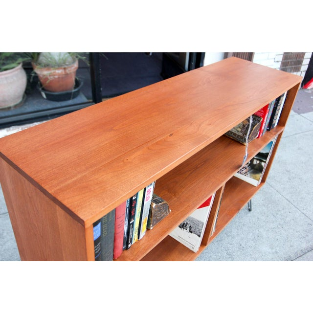 Mid-Century Modern Solid Wood Hair Pin Leg Credenza For Sale In Los Angeles - Image 6 of 12