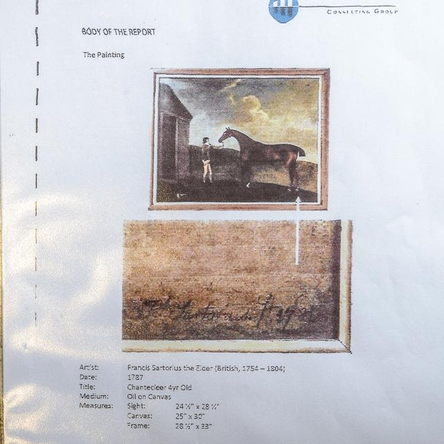 Francis Santorius Horse Painting For Sale In West Palm - Image 6 of 7