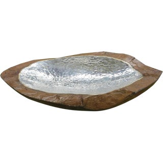 Boat Shaped Bowl with Inlay