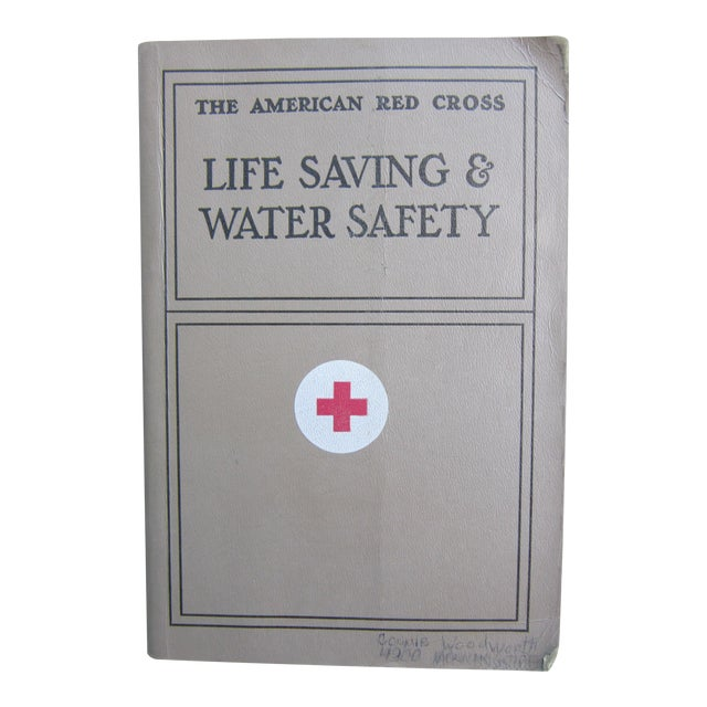 Vintage Red Cross Life Saving & Water Safety Book
