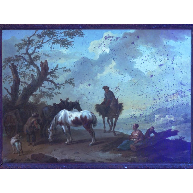 18th Century Antique Landscape Paintings Attr. To Pieter Van Bloemen - a Pair For Sale - Image 10 of 13