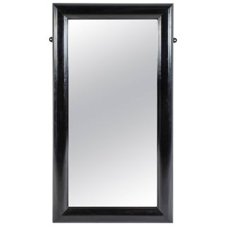 Large Rectangular Ebonized Mirror From Late 19th Century England For Sale