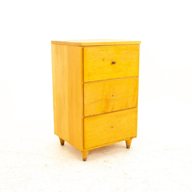 Paul McCobb Style Mid Century 3 Drawer Nightstand For Sale - Image 9 of 9