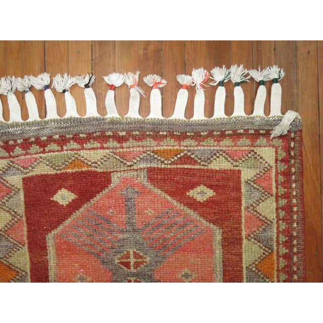 Textile Vintage Anatolian Geometric Runner - 2'9'' x 14' For Sale - Image 7 of 8