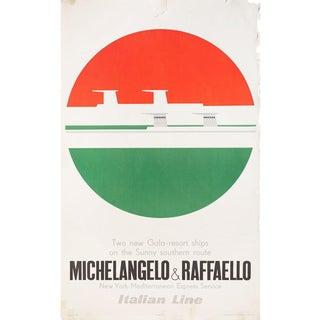 Michelangelo & Raffaello 1970s Italian B1 Poster For Sale