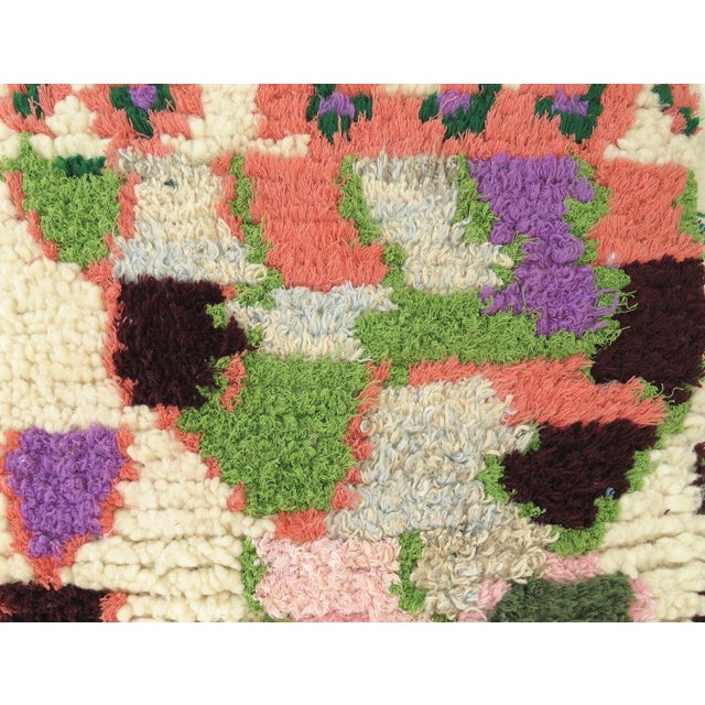 Vintage Abstract Moroccan Pouf - Image 4 of 8