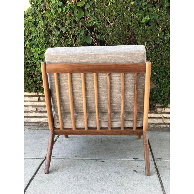 Not Yet Made - Made To Order Mid Century Modern Lounge Chair and Ottoman- Customizable For Sale - Image 5 of 13